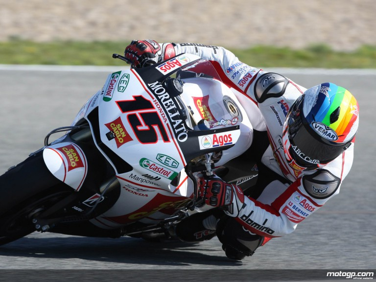 Alex de Angelis in action (MotoGP)