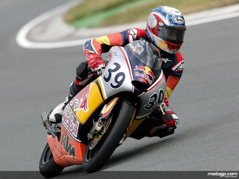 Luis Salom on track at the Sachsenring