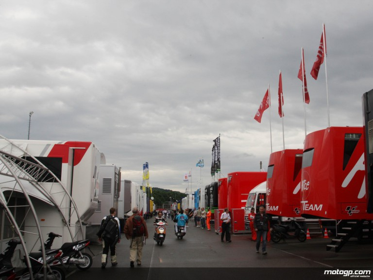 Rain hits the Sachsenring ahead of the second day of the German Grand Prix