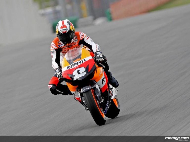 Dani Pedrosa in action in Sachsenring (MotoGP)