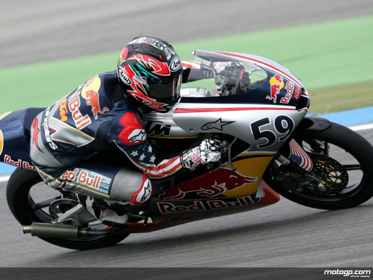JD Beach on his way to victory in Sachsenring
