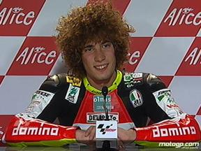 Marco Simoncelli interview after QP2 in Sachsenring