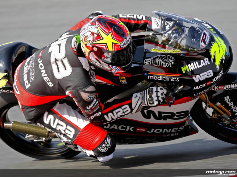 Simone Corsi in action in Sachsenring (125cc)