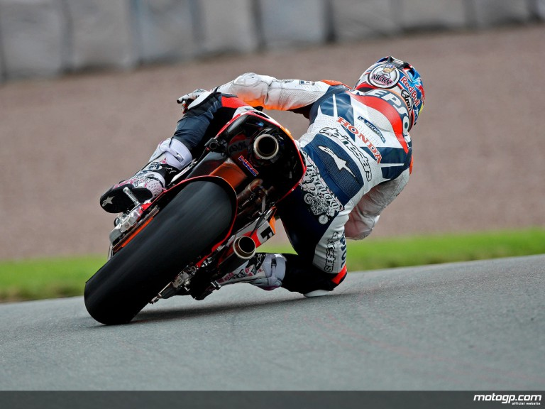 Nicky Hayden in action in Sachsenrng (MotoGP)
