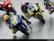 Rossi and Toseland in action in Sachsenring (MotoGP)