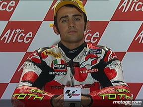 Hector Barbera interview after race in Sachsenring