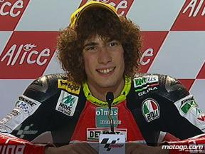 Marco Simoncelli interview after race in Sachsenring