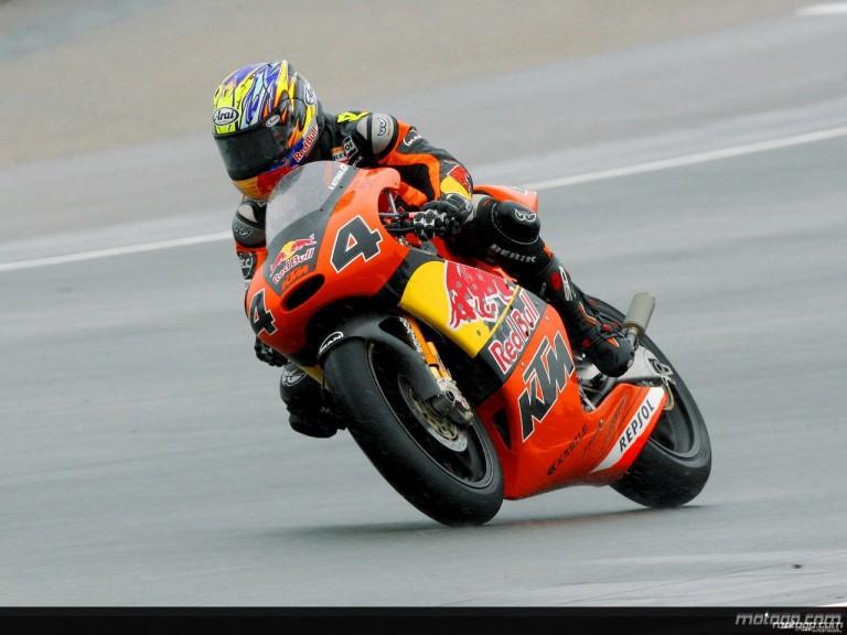 Hiroshi Aoyama in action in Sachsenring (250cc)
