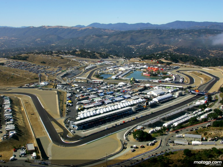 Aerial shot of Laguna Seca circuit