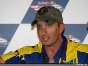 Colin Edwards confirms his new deal with Tech 3 Yamaha at the Laguna Seca press conference