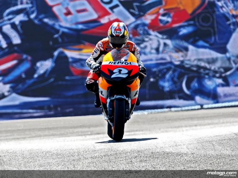 Dani Pedrosa in action in Laguna Seca (MotoGP)
