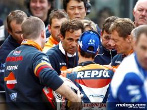 Repsol Honda rider Dani Pedrosa with his mentor Alberto Puig