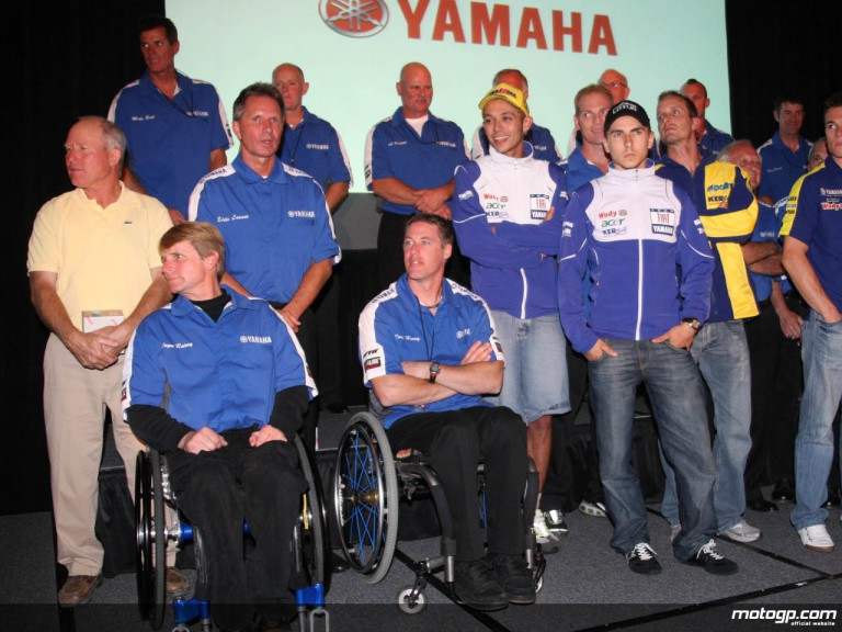 Past and current Yamaha riders gathered for the Japanese manufacturer party in Monterey