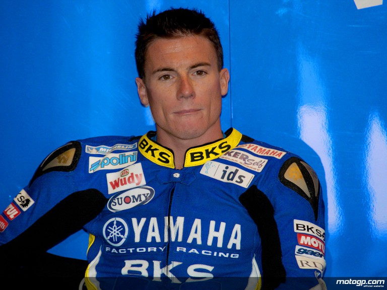James Toseland in the Tech 3 Yamaha garage (MotoGP)