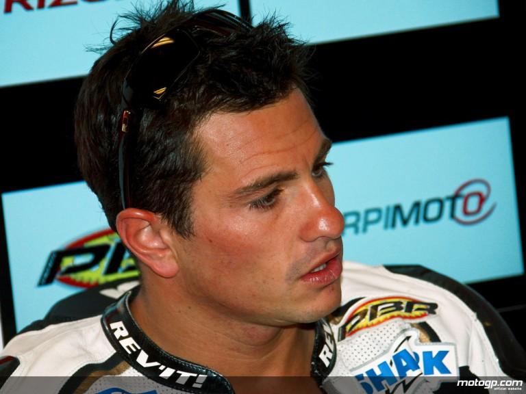 Randy De Puniet in the LCR Honda garage (MotoGP)