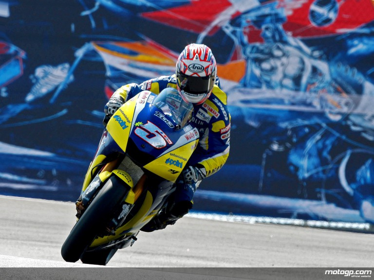 Colin Edwards in action in Laguna Seca (MotoGP)