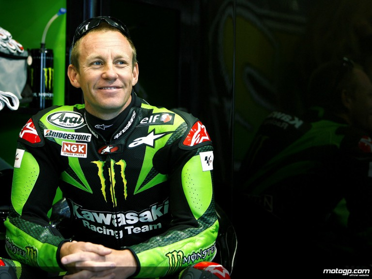 Jamie Hacking in the Kawasaki Racing garage (MotoGP)