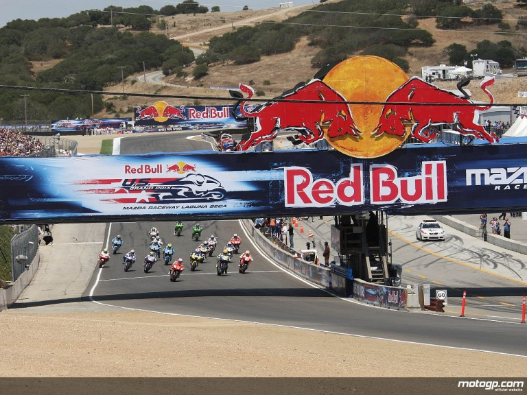 MotoGP race start at Laguna Seca