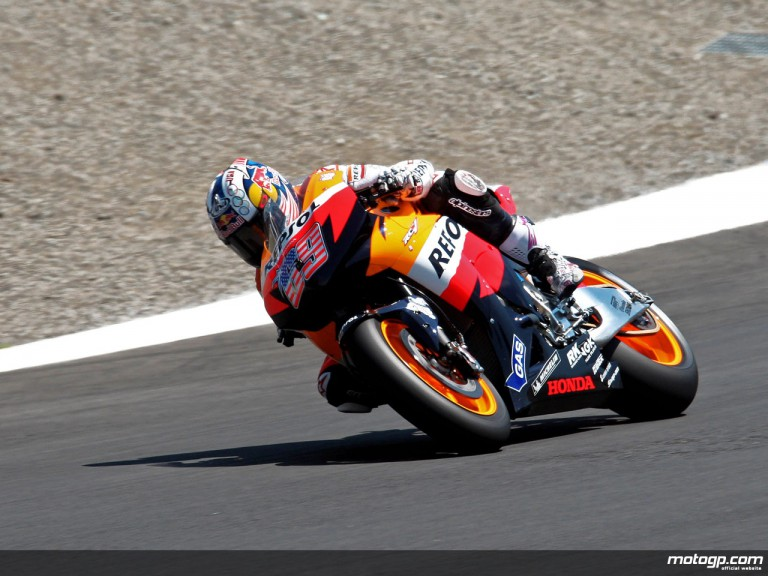 Nicky Hayden in action in Laguna Seca (MotoGP)