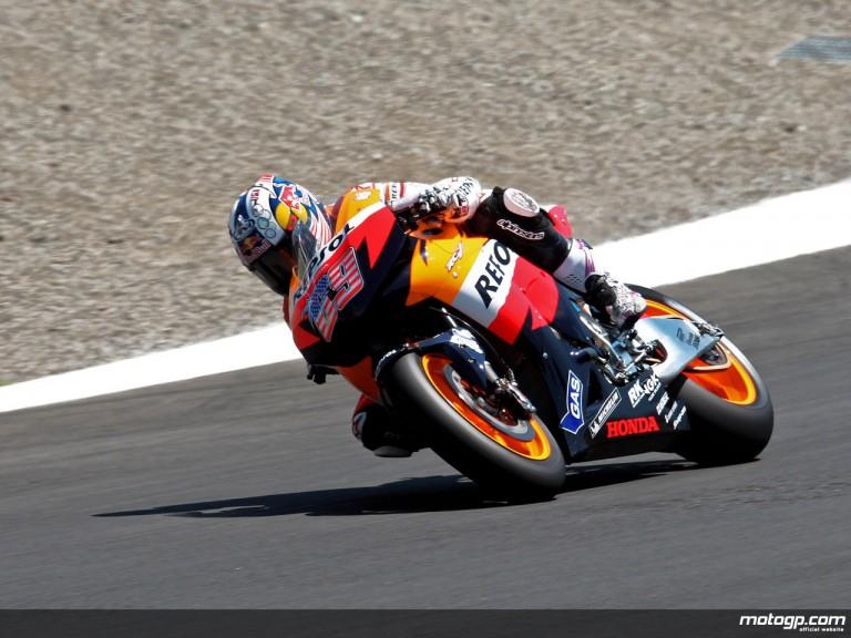 Nicky Hayden in action in Laguna Seca (MotoGP)