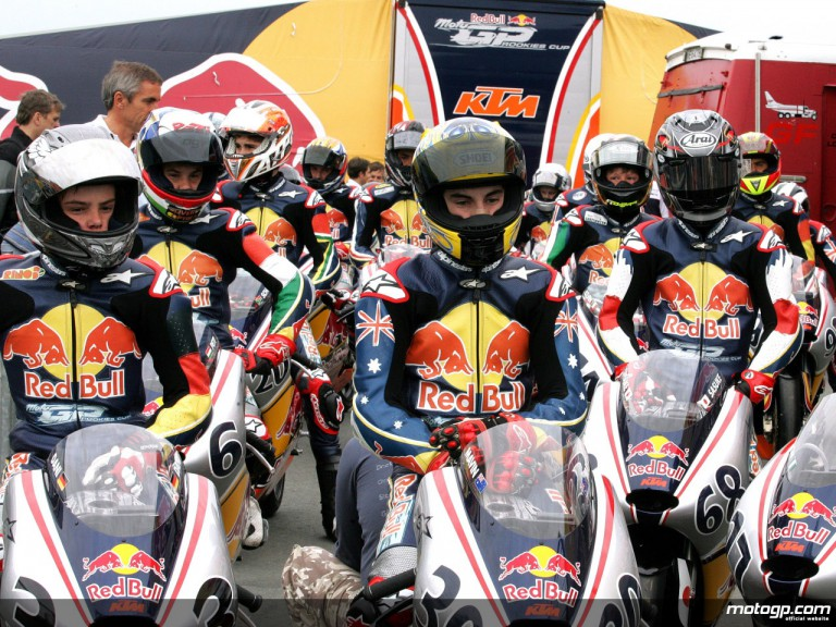 2008 Red Bull MotoGP Rookies riders