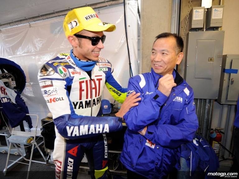 Valentino Rossi and Yamaha Motor Company´s Masao Furusawa