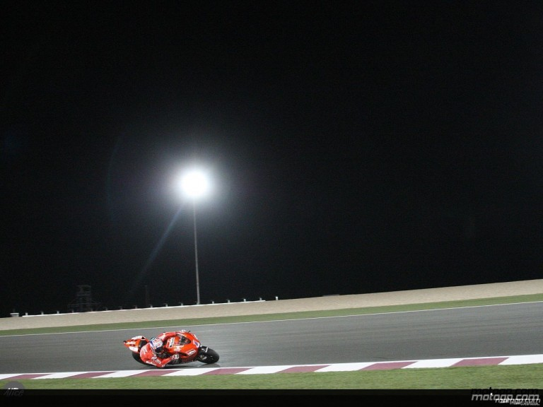 Casey Stoner at the Losail International Circuit