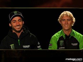 Kawasaki Racing team-mates John Hopkins and Anthony West