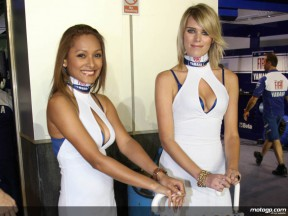 Fiat Yamaha paddock girls at the Losail International Circuit