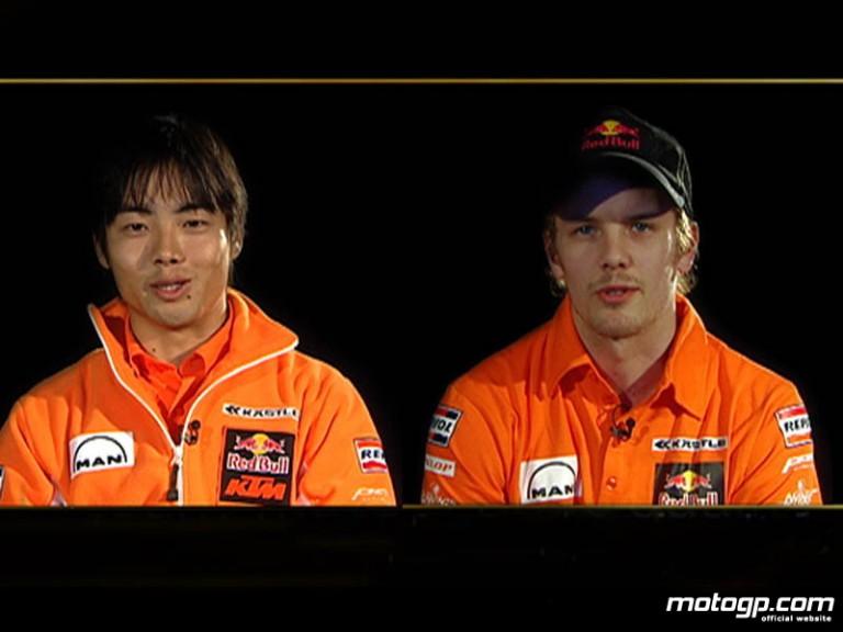 Red Bull KTM 250cc team-mates Mika Kallio and Hiroshi Aoyama