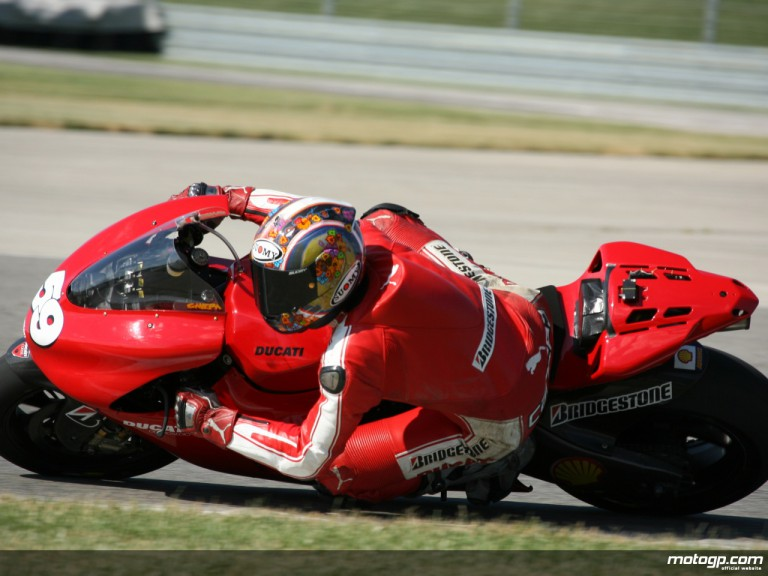 Italian youngster Niccoló Canepa on testing duty with Ducati Corse