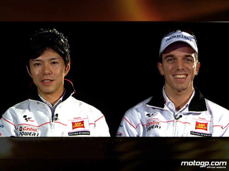 San Carlo Honda Gresini riders Shinya Nakano and Alex de Angelis
