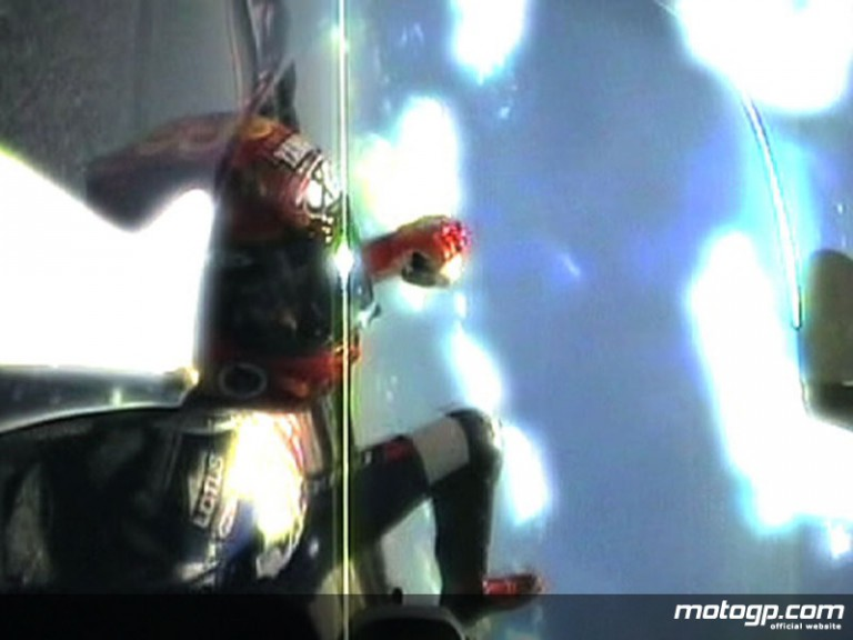 OnBoard view of Jorge Lorenzo´s crash at Catalunya