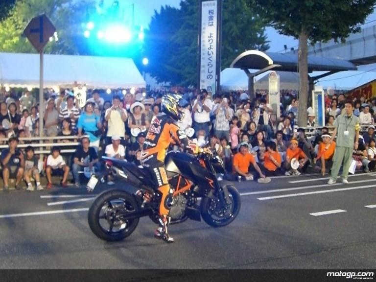 Hiroshi Aoyama at the summer festival