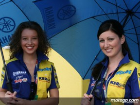 The Tech 3 Yamaha Paddock Girls in Sachsenring