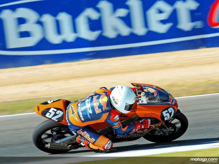 Danny Kent racing with the Red Bull MotoGP Academy at Albacete