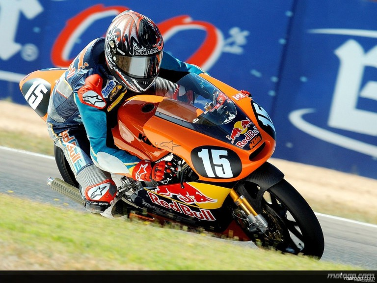 Red Bull MotoGP Academy rider Nelson Major at Albacete