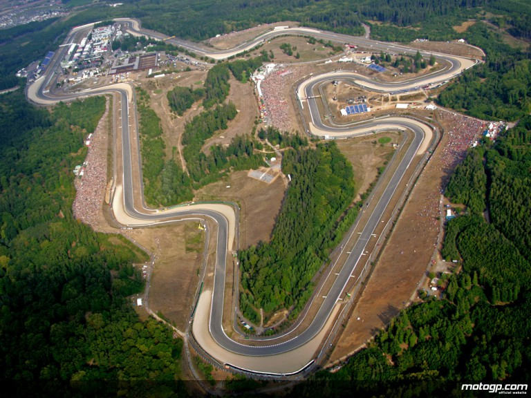 Aerial shot of the Brno circuit