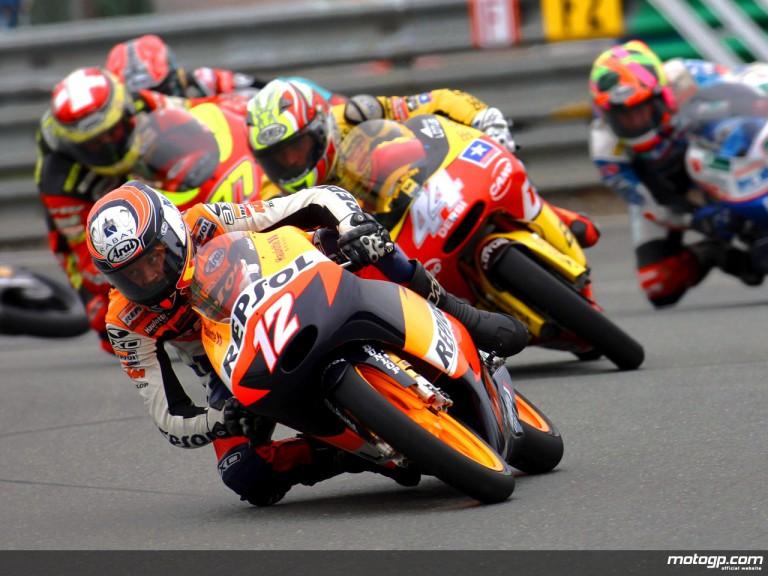 Esteve Rabat in action in Sachsenring (125cc)
