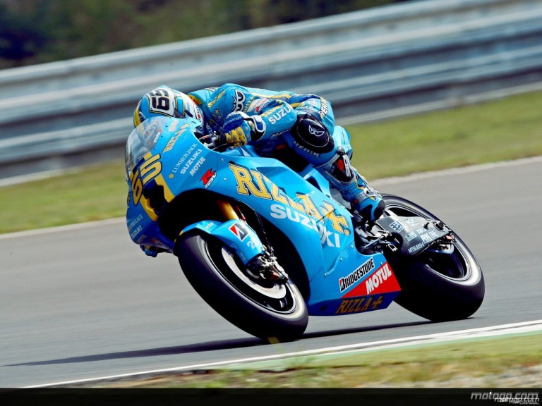 Loris Capirossi in action in Brno (MotoGP)