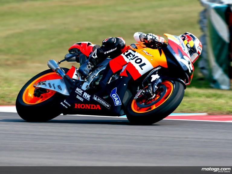 Dani Pedrosa in action in Brno (MotoGP)