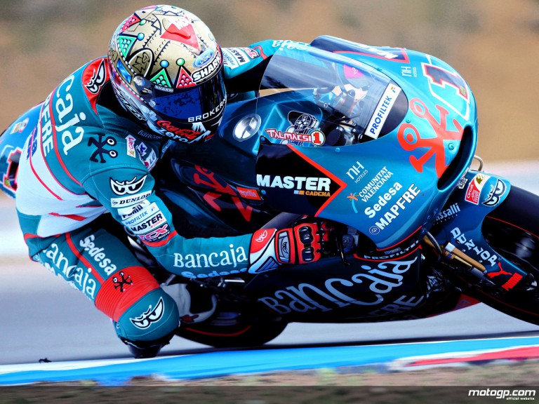Gabor Talmacsi in action in Brno (125cc)