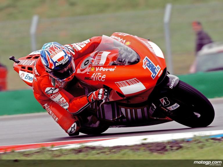 Casey Stoner in action in Brno (MotoGP)