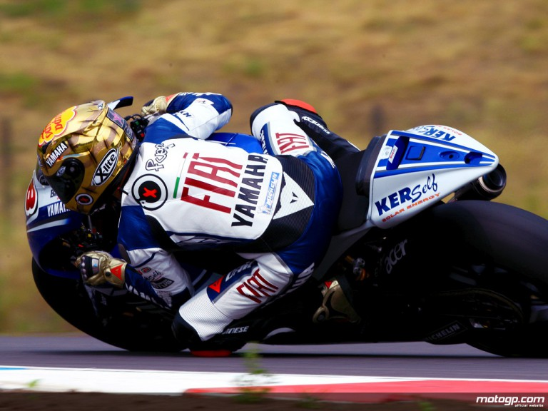 Jorge Lorenzo in action in Brno (MotoGP)