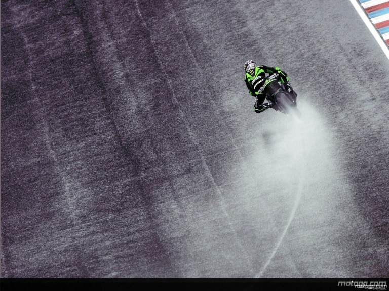 Anthony West in action during QP in Brno (MotoGP)