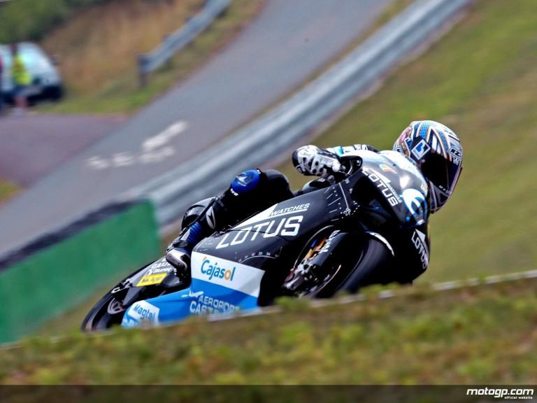 Alex Debon in action in Brno (250cc)