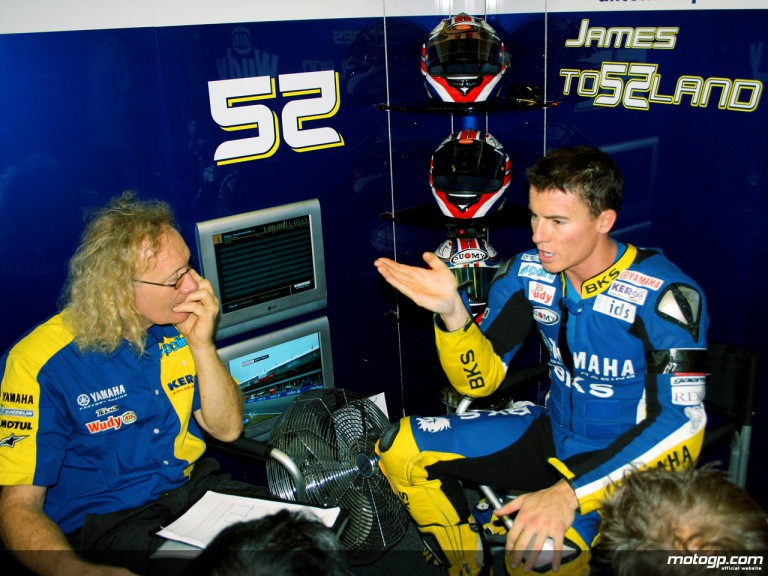 James Toseland in the Tech3 Yamaha garage