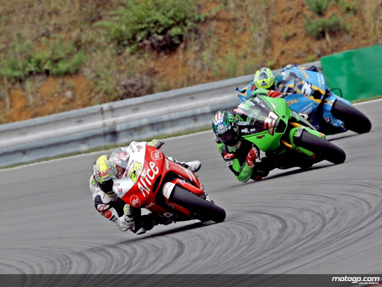 MotoGP group in action in Brno