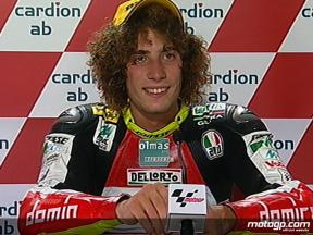 Marco Simoncelli interview after race in Brno