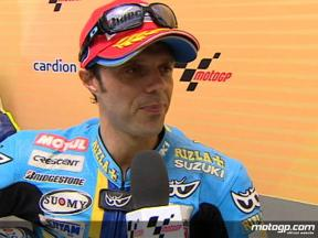 Capirossi on podium return